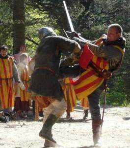 Combats à pied