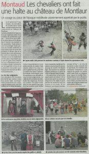Read more about the article Midi Libre – Montaud: Les chevaliers ont fait une halte au château de Montlaur